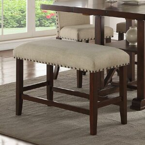 amelie ii upholstered dining bench