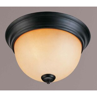 Rainier 2-Light Ceiling Fixture Flush Mount by Volume Lighting