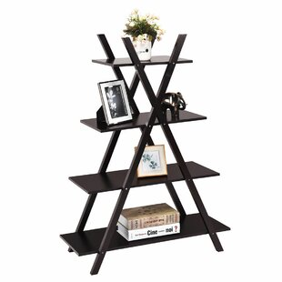 Hartselle 4-Tier X-Shape Ladder Bookcase