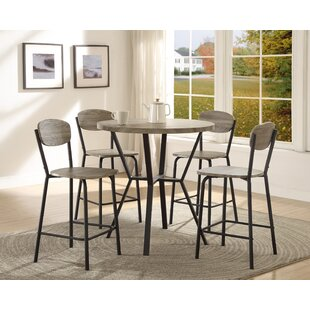 Felicia 5 Piece Counter Height Dining Set by Millwood Pines