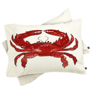 Laura Trevey Crab Pillowcase