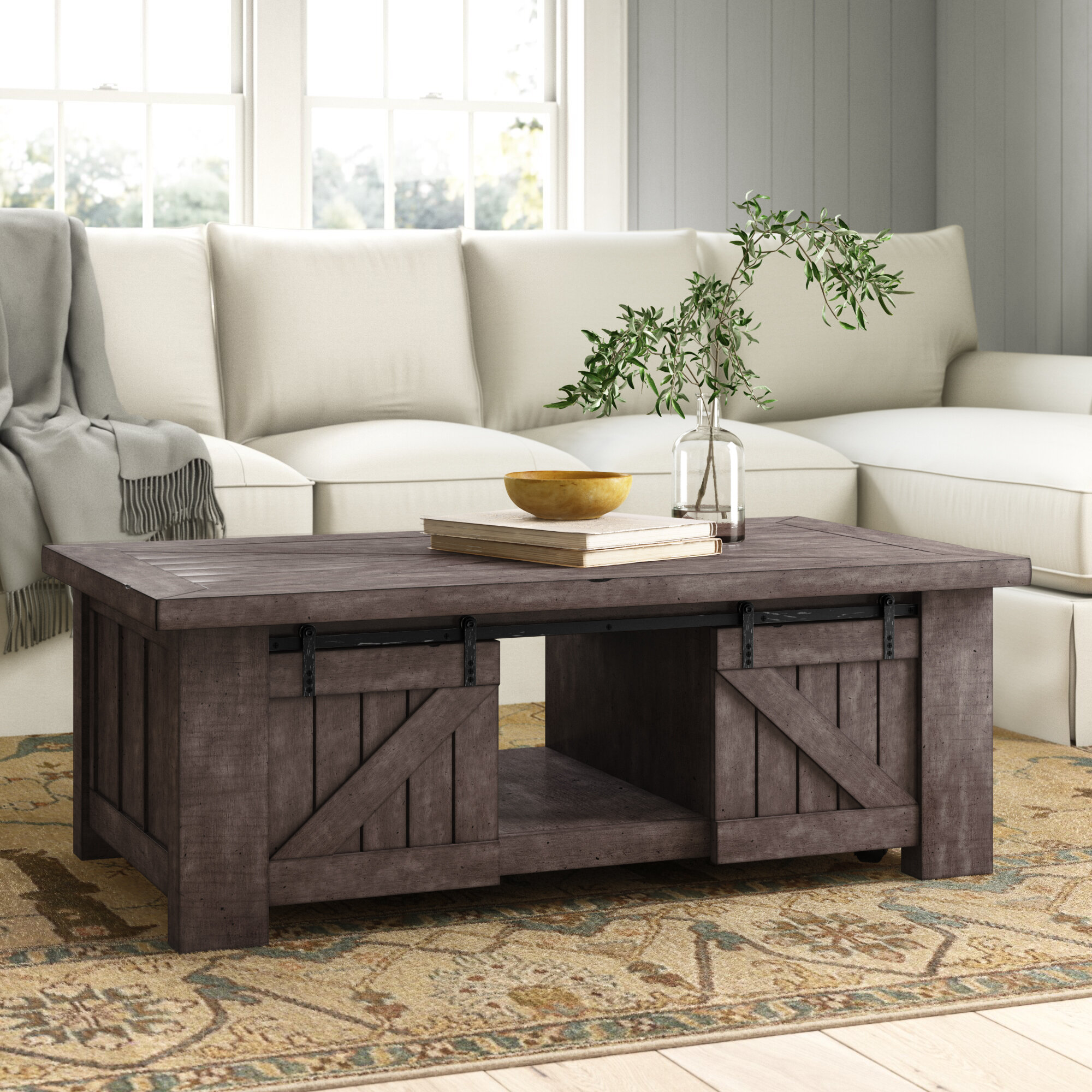Sherree Solid Wood Lift Top Coffee Table With Storage Reviews Birch Lane