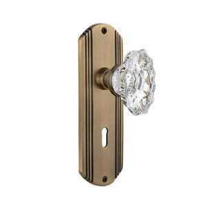 Chateau Interior Mortise Door Knob with Deco Plate by Nostalgic Warehouse