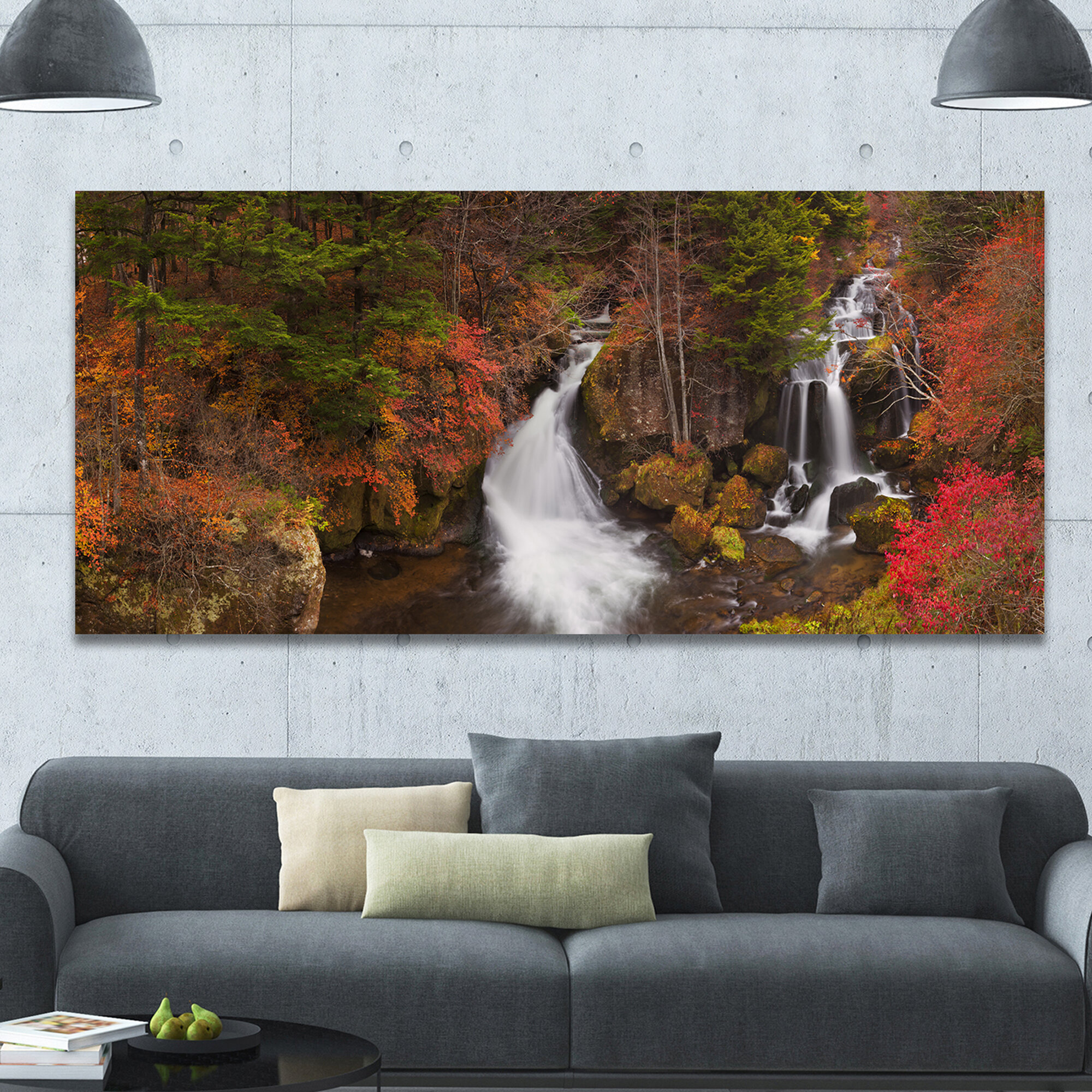Designart Ryuzu Falls Near Nikko Japan Photographic Print On Wrapped Canvas Wayfair