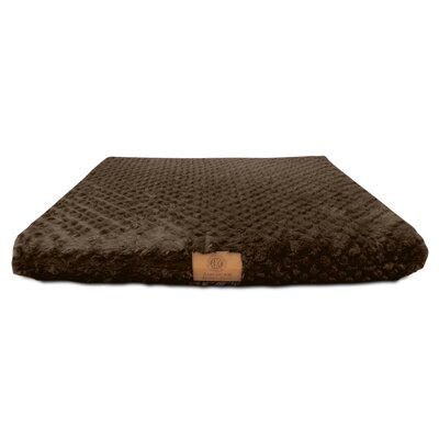 "Orthopedic Dog Pad Akc Size: Large (23"" W X 36"" D X 3"" H), Color: Brown"