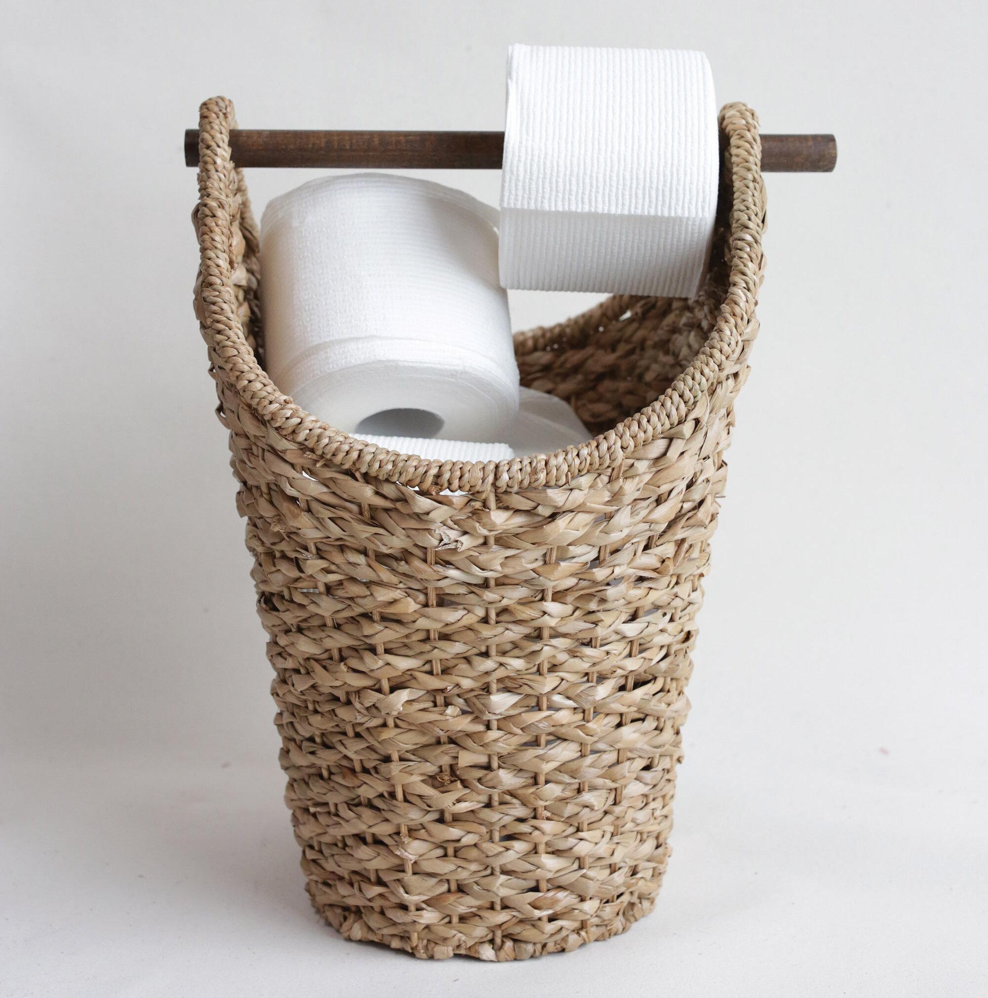 Highland Dunes Braided Freestanding Toilet Paper Holder Reviews Wayfair