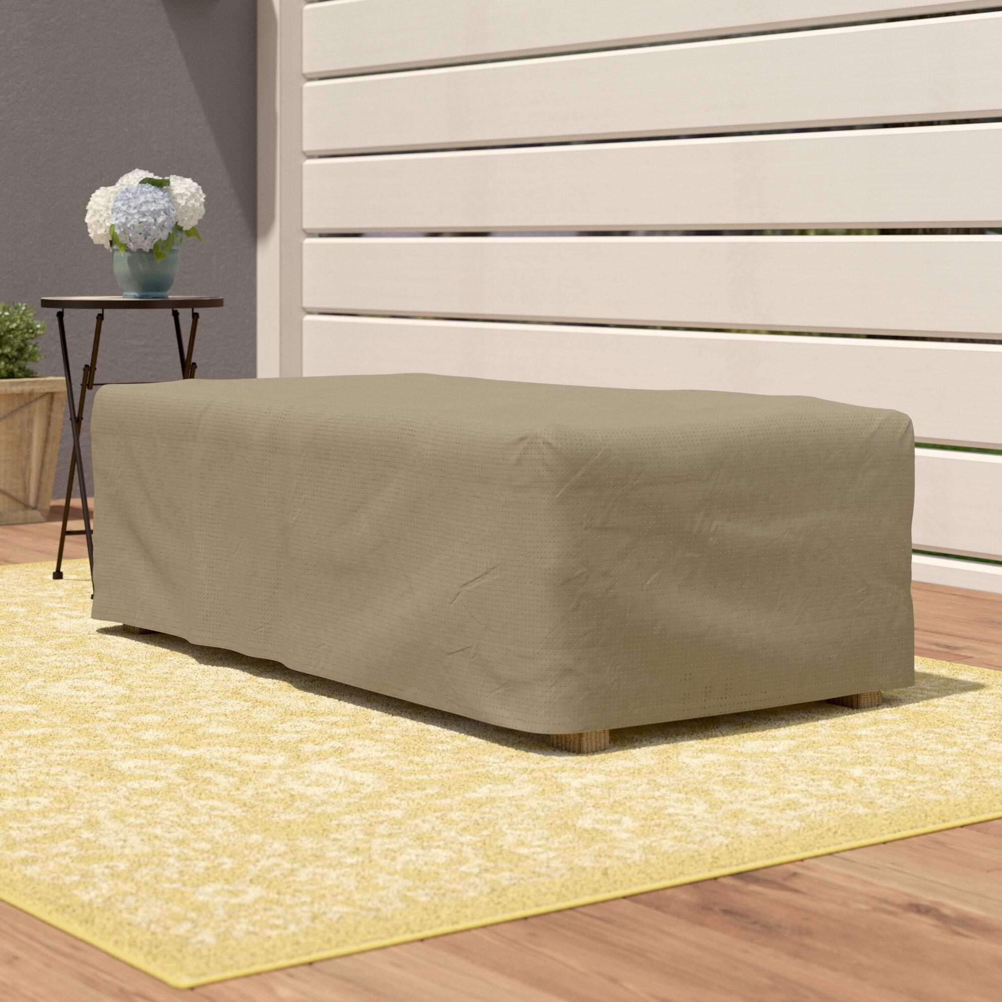 Wayfair basics rectangle patio ottoman or side table cover reviews birch lane