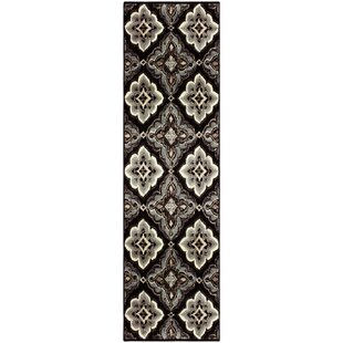 Best Katlin Black/Bluish-gray Area Rug ByWinston Porter