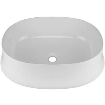 Toto Maris Vitreous China Oval Vessel Bathroom Sink With Overflow Wayfair