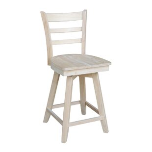 Adah Counter Height 24 Swivel Bar Stool Highland Dunes