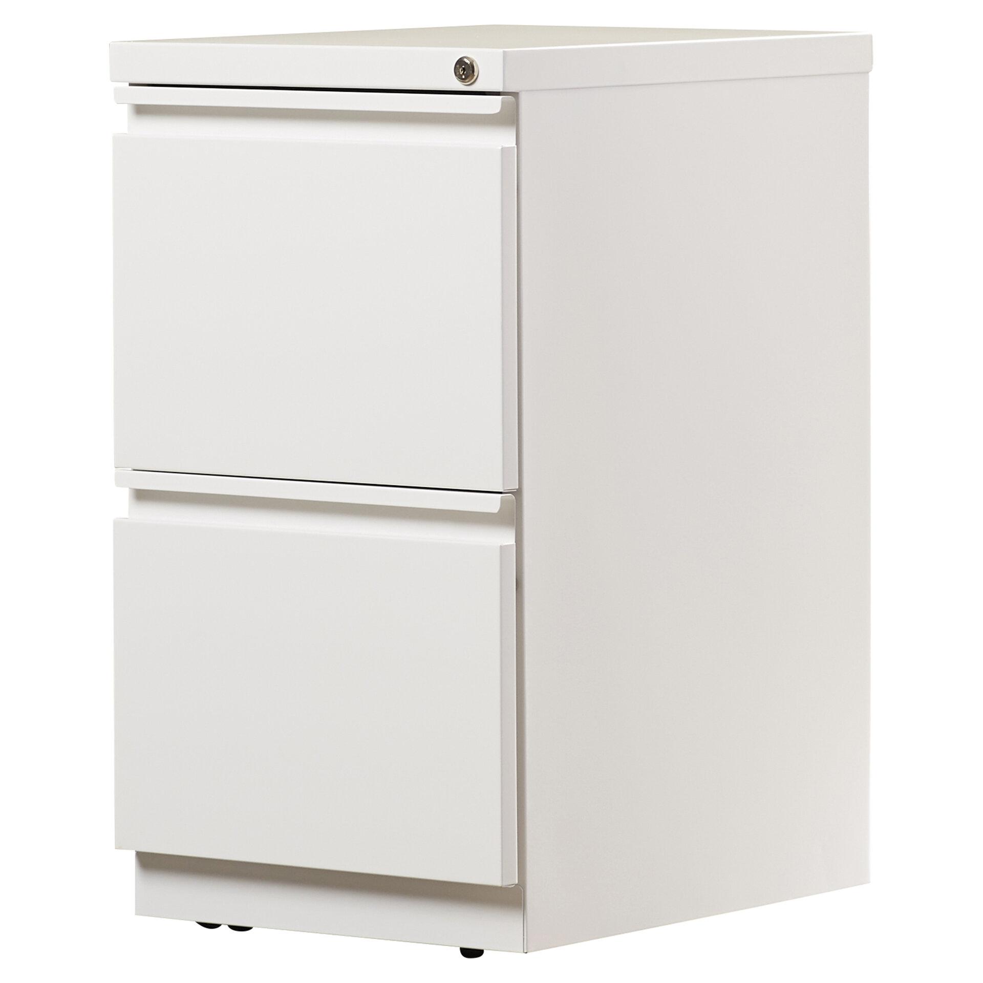 2 Drawer Mobile Vertical Filing Cabinet