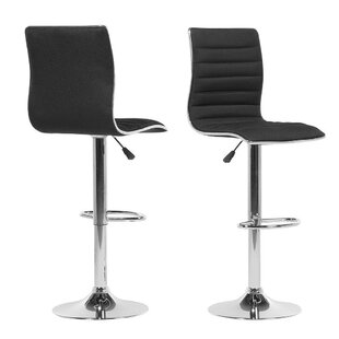 Fayetteville Adjustable Height Swivel Bar Stool (Set of 2) by Orren Ellis