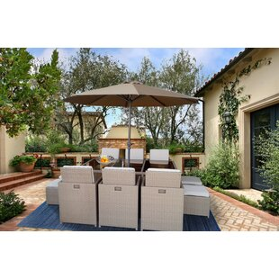 Lake Macquarie 12 Piece Patio Dining Set with Cushions by Bayou Breeze