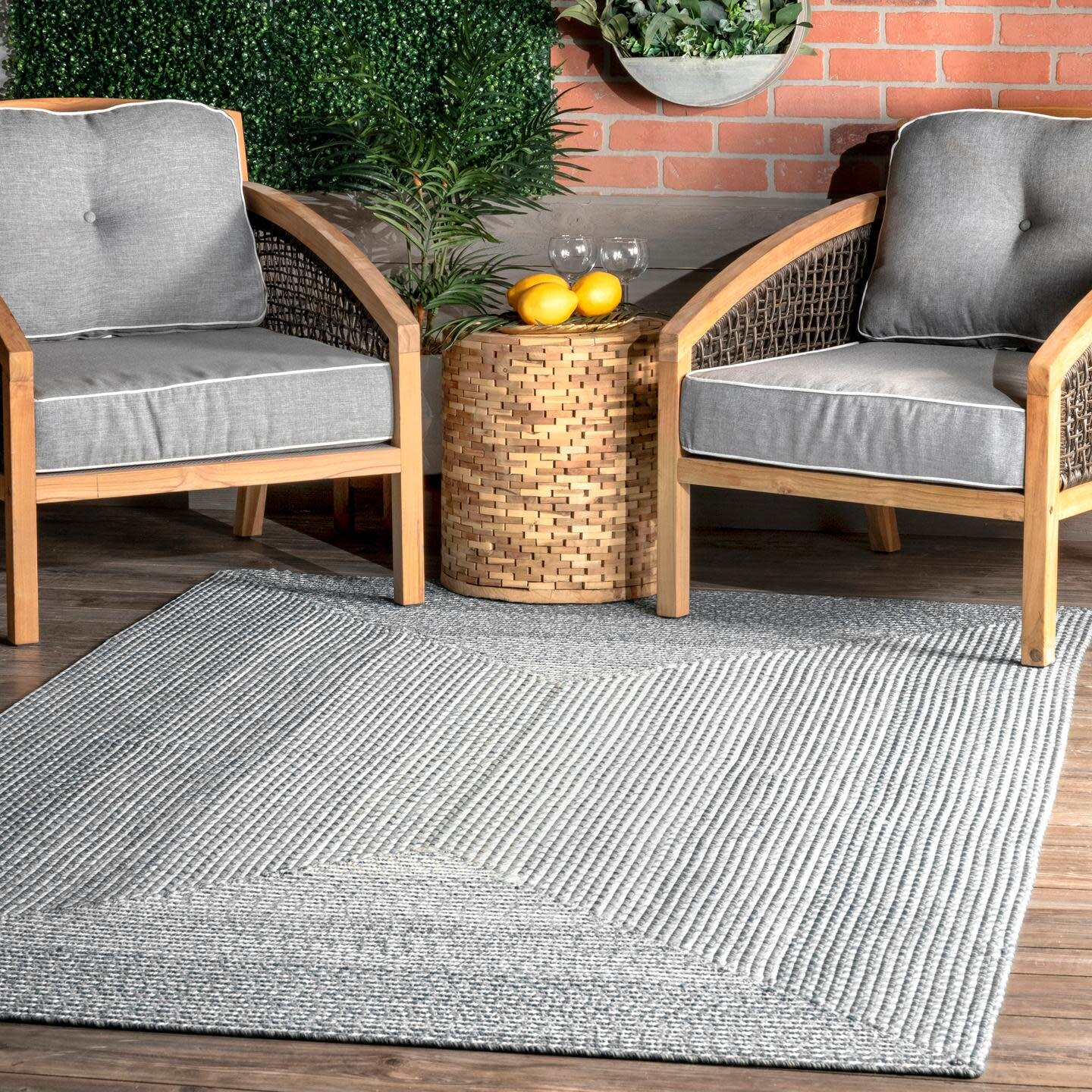 Gray Silver Round Outdoor Rugs You Ll Love In 2021 Wayfair