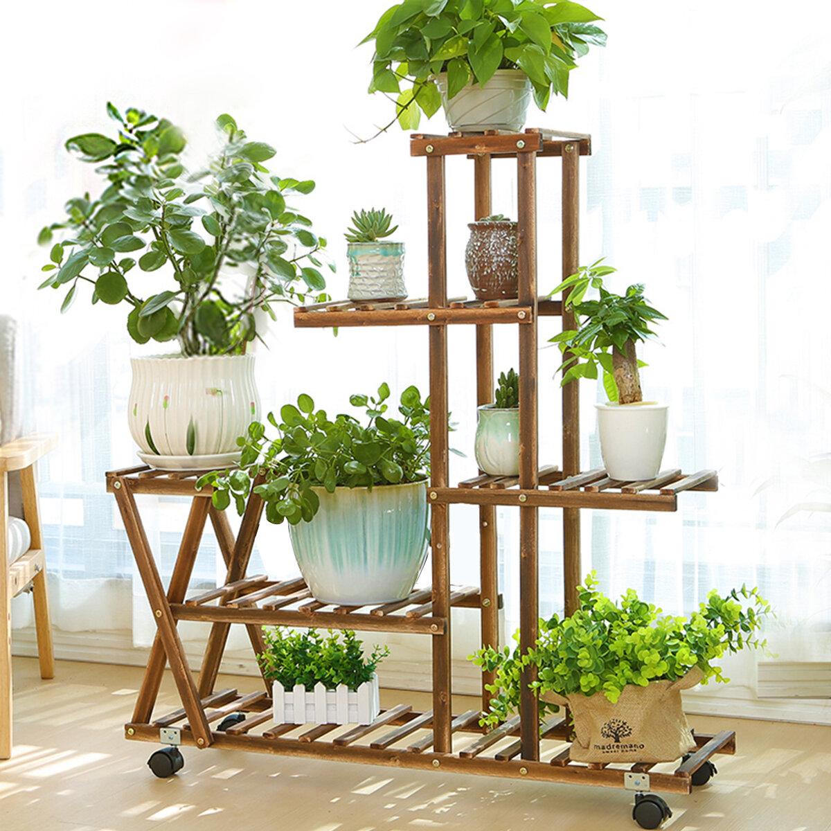 Red Barrel Studio Barbot Wooden Flower Pot Plant Stand Reviews Wayfair
