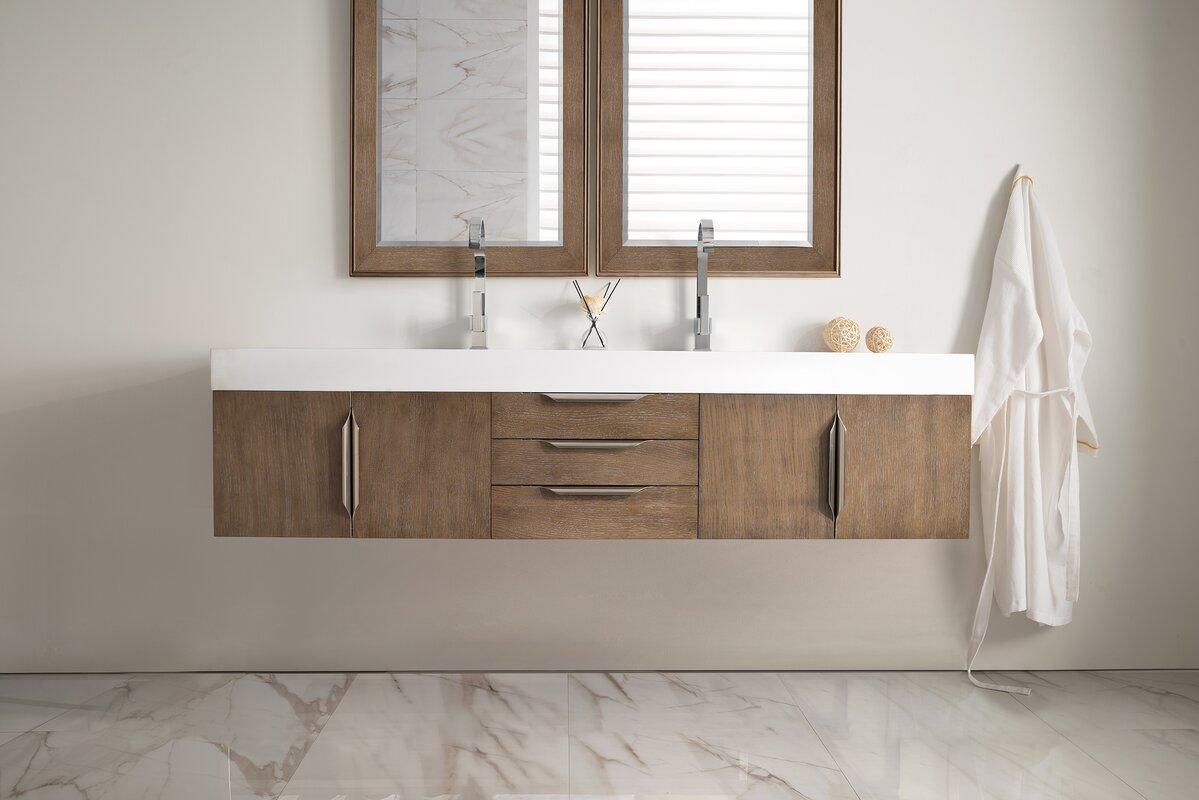 Brayden studio hukill 72 double bathroom vanity set reviews hukill 72 double bathroom vanity set geotapseo Image collections