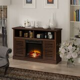 Carsdale TV Stand for TVs up to 55 with Electric Fireplace Included by Red Barrel Studio®