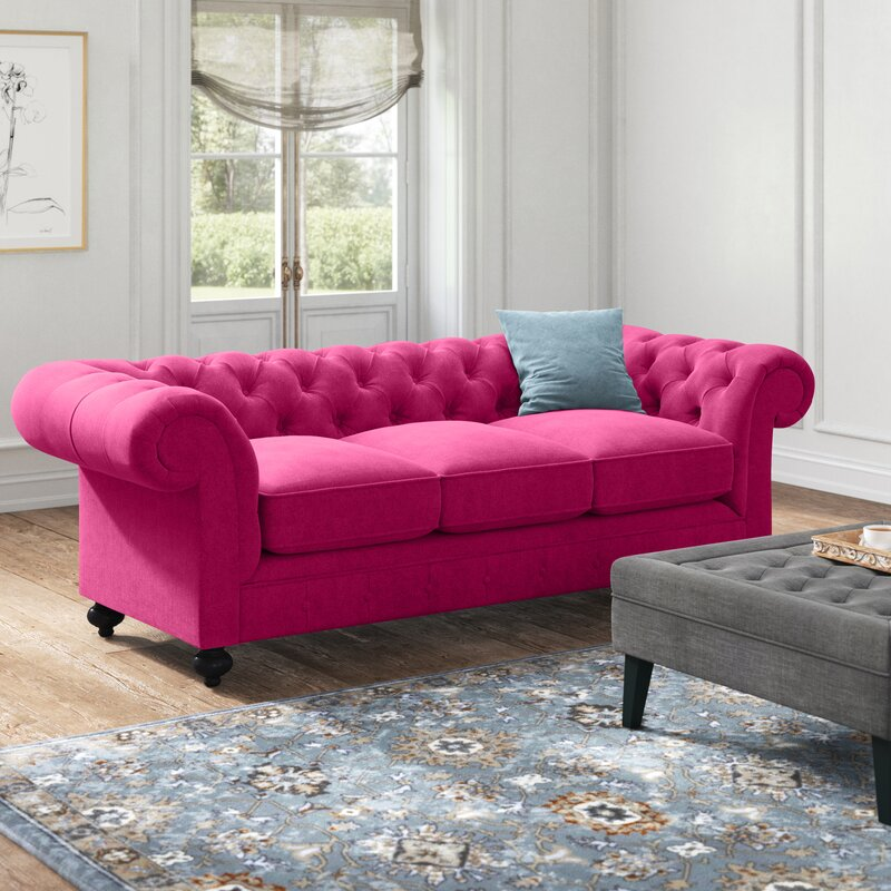 Kelly Clarkson Home Laster Chesterfield 96 Rolled Arm Sofa Reviews Wayfair
