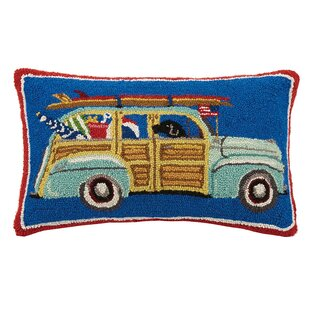 Station Wagon 100% Cotton Lumbar Pillow