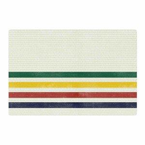 Draper Eagle Scout Stripes Green/Beige Area Rug
