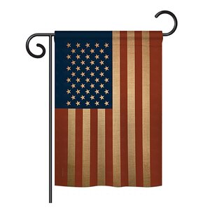 11cf7dad11d American Flag of the World 2-Sided Burlap 1.5 x 1.1 ft. Garden Flag. by  Breeze Decor