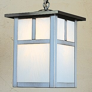 Compare prices Mission 1-Light Outdoor Hanging Lantern By Arroyo Craftsman