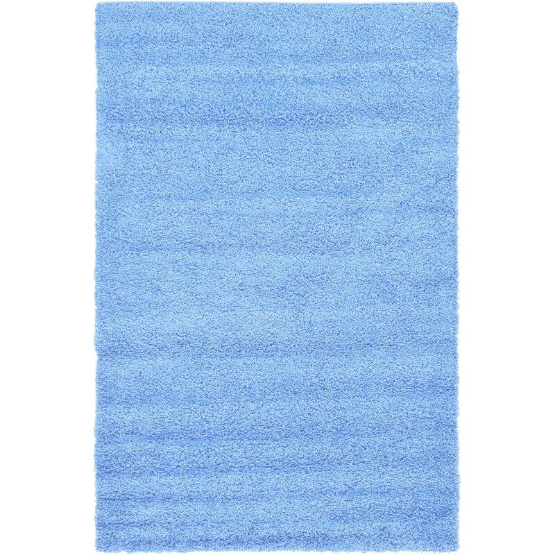 Affinity Linens Affinity Hand-woven Blue Area Rug, Size: Rectangle 8 x 10