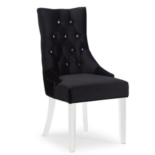Crystal Studded Velvet Side Chair by !nsp..