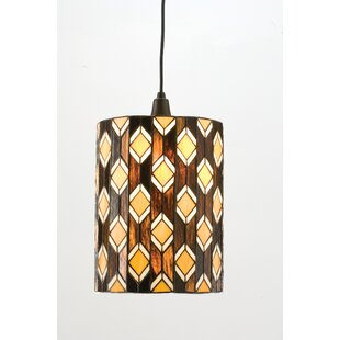 Diamonte 1-Light Cylinder Pendant by Meyda Tiffany