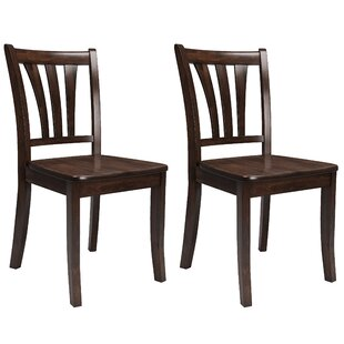 Three Posts Liggett Modern Solid Wood Dining Chair (Set of 2)
