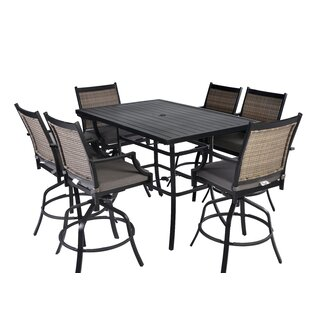 Yost 7 Piece Bar Height Dining Set with Cushions