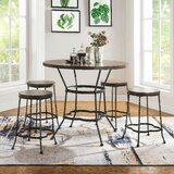 Renault 5 Piece Pub Table Set by Fleur De Lis Living