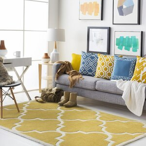 Santorini Hand-Tufted Gold/Ivory Area Rug