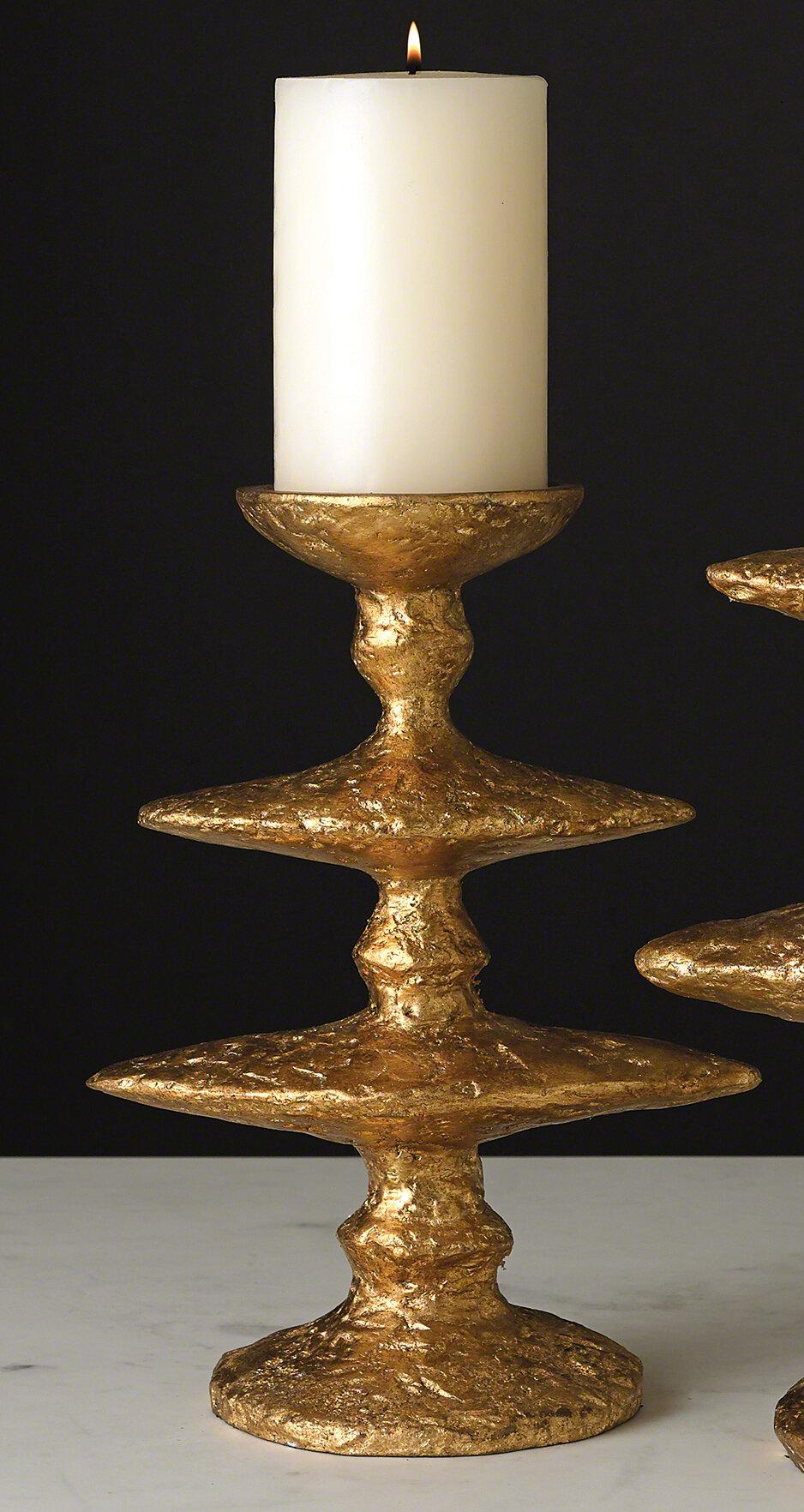 Global Views Zulu Metal Tabletop Candlestick Wayfair