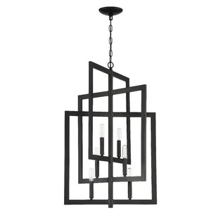 Tufts 6-Light Square/Rectangle Chandelier