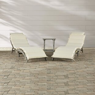 Beachcrest Home Kelling 3 Piece Conversation Set with Cushions