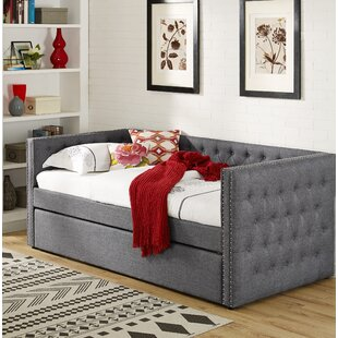 Avera Linen Upholstered Twin Daybed with Trundle