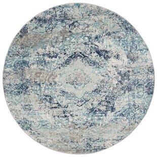 Katie Ivory/Blue Area Rug by Mistana