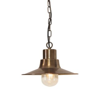 Longshore Tides Gatewood 1-Light Outdoor Hanging Pendant