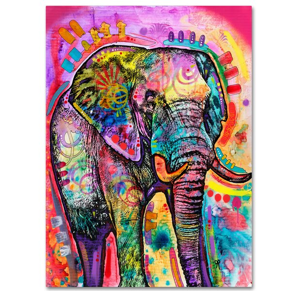 'Elephant' Graphic Art Print - Elephant Wall Decor Boho Chic