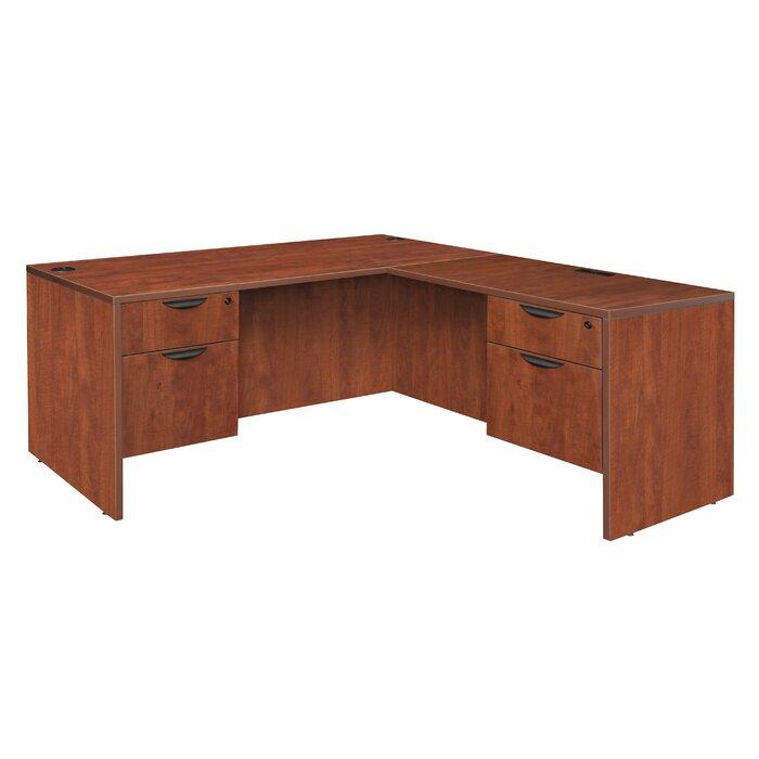 buy popular 3bc97 6690f Linh Double Pedestal L-Shape Corner Desk