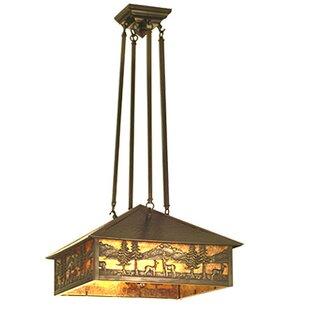 Meyda Tiffany Deer Lodge 3-Light Pool Table Lights
