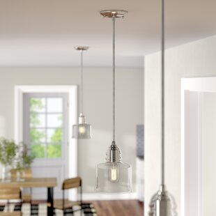 Laurel Foundry Modern Farmhouse Du Bois Modern Cord-Hung 1-Light Bell Pendant