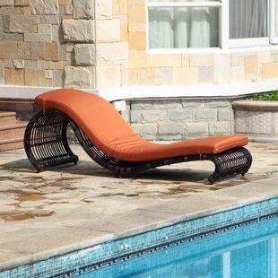 Brayden Studio Skeen Chaise Lounge with Cushion