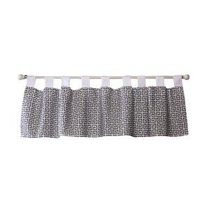 Ombre Gray Greek Key Curtain Valance