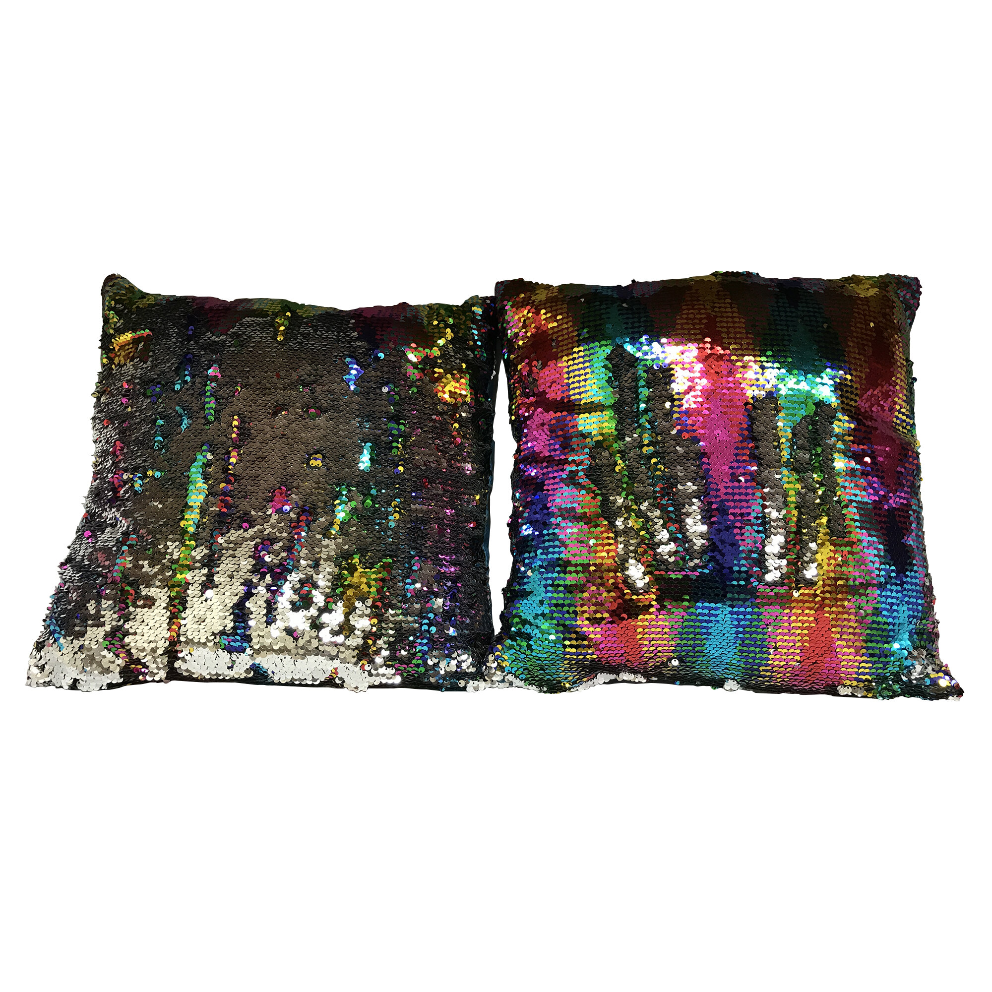 accent sequin of nice pillows cushion blue throw pillow sparkle silver