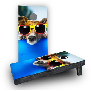 Custom Cornhole Boards Summer Dog Cornhole Boards (Set of 2)