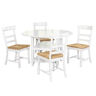 Pollmann 5 Piece Drop Leaf Dining Set