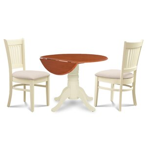 Thornhill Round Carved 3 Piece Dining Set by Alcott Hill