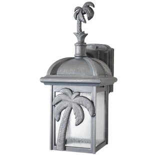 Compare prices Penfield 1-Light Outdoor Wall Lantern By Alcott Hill